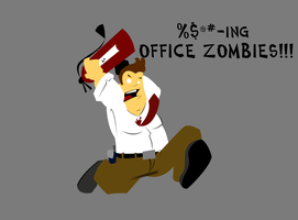 Office Zombies Progress by space-bean