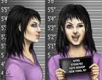 Kate Bishop Mugshot by ForesakenFaerie