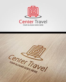 Center Travel Logo by pascreative