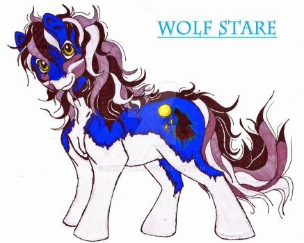 Wolf Stare--My Little Pony OC by MWRoach