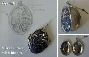 Flower Locket by GeshaR