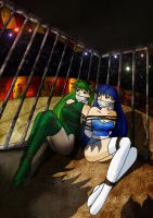 Aoi and Hisui Caged by DamselComics