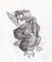 Future Trunks Sketch by moley
