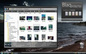 Blaq - Vista Basic Theme by darkredbbb