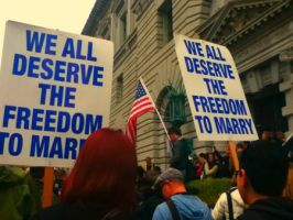 We all Deserve the Freedom to Marry: SF Rally by Sunset-Trails