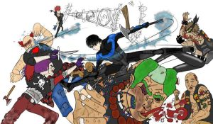 Nightwing Fight by Algelis
