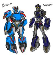 Navcross and Transistor by a-paranoid-android