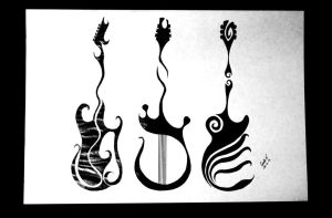 Guitars by GiselleArt7