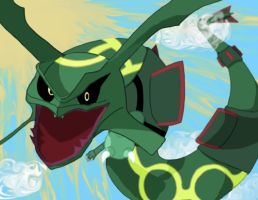 Flying Rayquaza by sailingShipwrecks