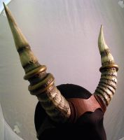 Jewellery Embellished Slim Carved Foam Horns by Mandala-Studios