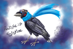Realisticish Sistine Doodle by FeatheredSoap