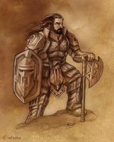 Thorin - golden armor by Evolvana