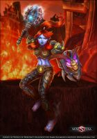 WOW Fanart Troll Warrior by mizukoiuchi
