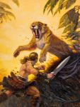 Niord and the Saber Tooth by AaronMiller