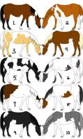 Horse Paint Adopts.:CLOSED:. by SnoHeartsMay