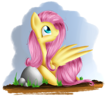 Just Fluttershy by muffinka22