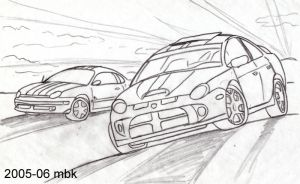 dodge neon tribute lines by supercrazzy