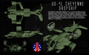 UD-4L Cheyenne dropship ortho by unusualsuspex