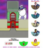 The Real Ghostbusters - Models by mikedaws