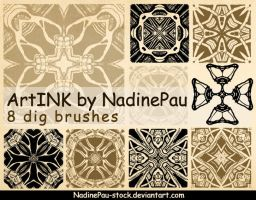 My inkart brushes by NadinePau-stock