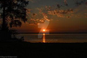 Sunset Over Ross Barnett by WKinkennon