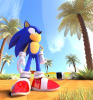 Sonic In (upgrated) Green Hill Zone by FinnAkira