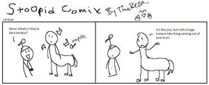 Stoopid comix centaur by TheReza13