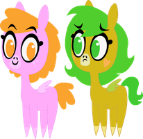 Sparkle Face and Butter Bean by TwitchyTail
