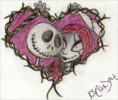 Jack and Sally Flash by xorxqueenox