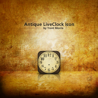 Antique LiveClock Icon by trentmorris