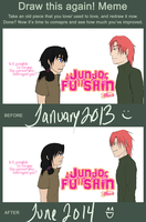 Junjo Fu Shin Intro - Before And After Meme by deathgenebunny