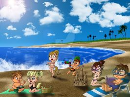 Day at the Beach by Peacekeeperj3low