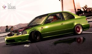 6gen JDM civic by TaTukas