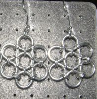 Chainmaille Earring 51 by Des804