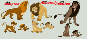 Male Lion Adoptions - Closed by AnarsAdoptionAgency