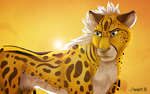 Queen of cheetahs by TheDaylightWolf