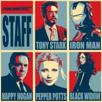Stark Industries Staff by superwalta