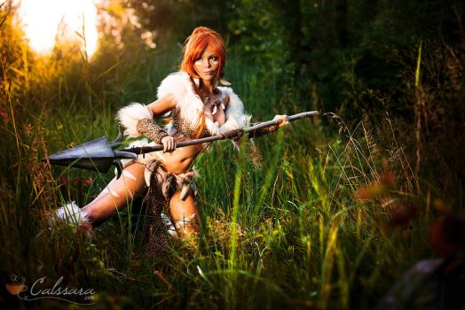 Nidalee - League of Legends - Hunting by Midgard1612