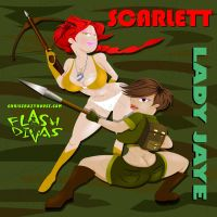 Scarlett and Lady Jaye by chriscrazyhouse