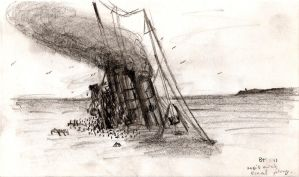 The sinking of the Lusitania by btomimatsu