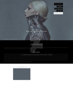 LadyGaga.blog.cz | Ordered Layout by lenkamason