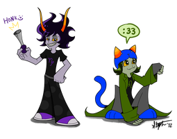 Gamzee and Nepeta PSG style by yorikitsune