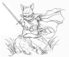 Mouseguard's Saxon Sketch by Max-Dunbar