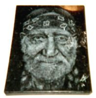 Willy Nelson Etch by ckatt01