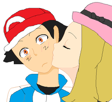 Serena kissing Ash by ChipmunkRaccoon2