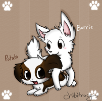 Potato and Borris by Sunnynoga