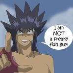 Freaky Fish Guy by japanthewoman
