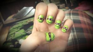 tmnt donnie nail by WolffangComics
