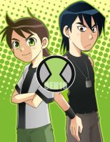 BEN10:Ben and Kevin by RokusukeTanaka