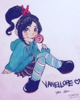 Drawing of Vanellope Final by XxMioLuvxX
